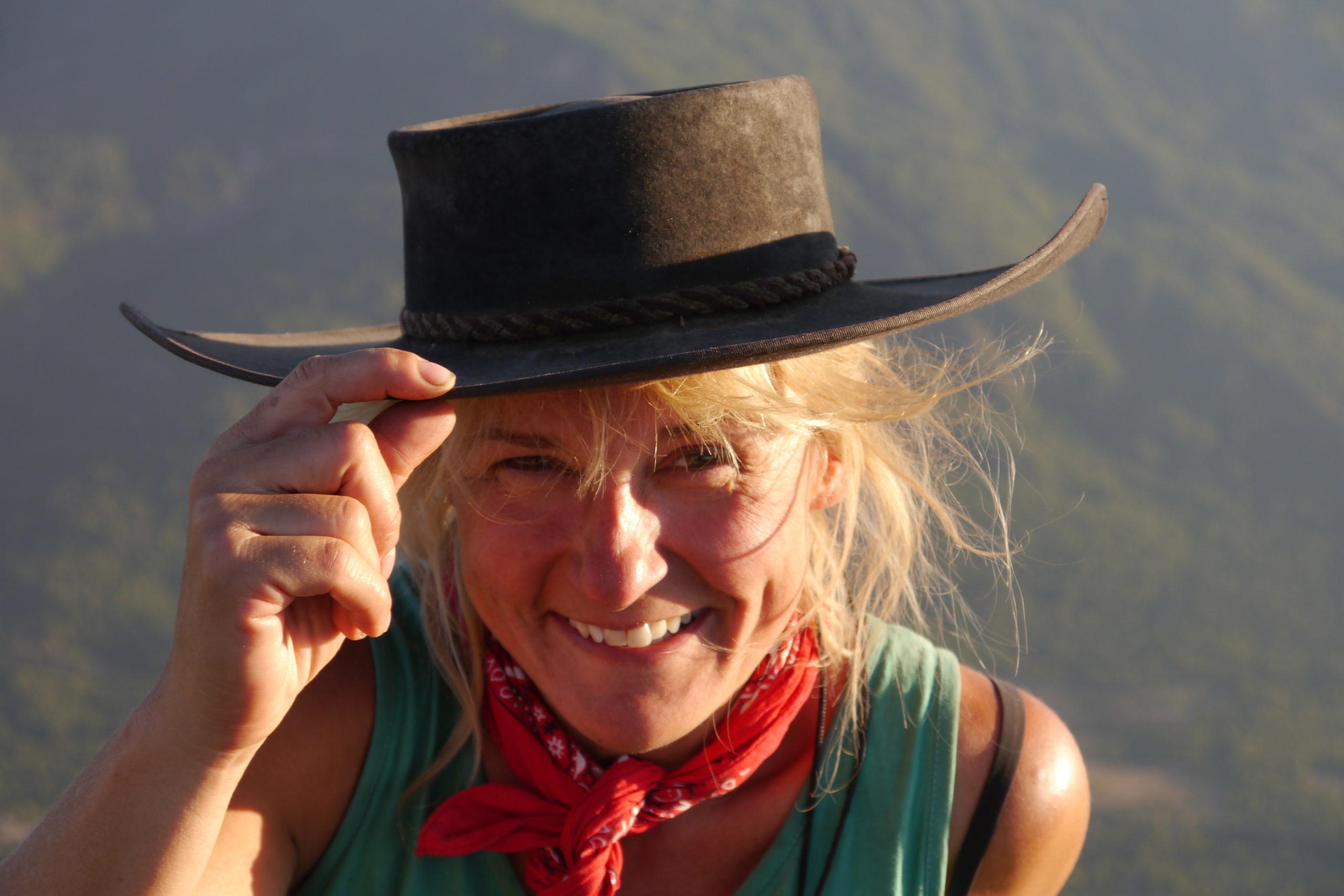 Eva in Chile glücklich